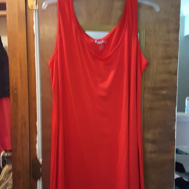 Item - Red Long Casual Maxi Dress Size 26 (Plus 3x)