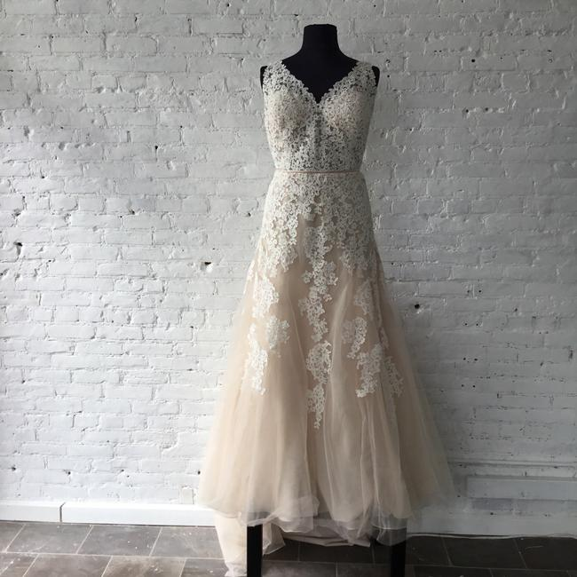 Item - Ivory/Moscato Lace/Tulle 6552 Formal Wedding Dress Size 20 (Plus 1x)