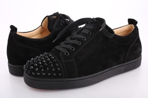 Christian Louboutin Black Louis Junior Spikes Sneakers Shoes