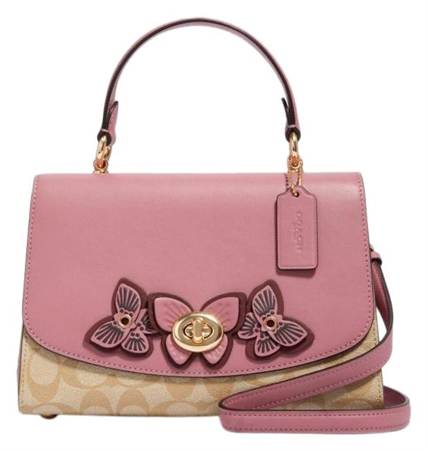 Item - Tilly Top Handle In Signature Canvas with Butterfly Applique Multicolor Leather Satchel