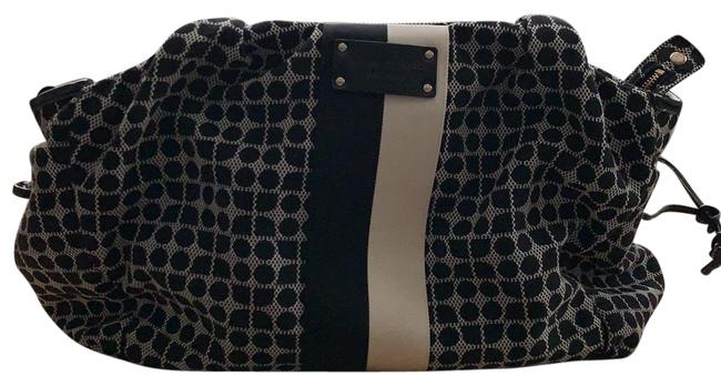 Item - Tote Style Black and White Fabric Diaper Bag