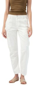 RE/DONE Mid Rise Slim Straight Levi's Cargo Pants White