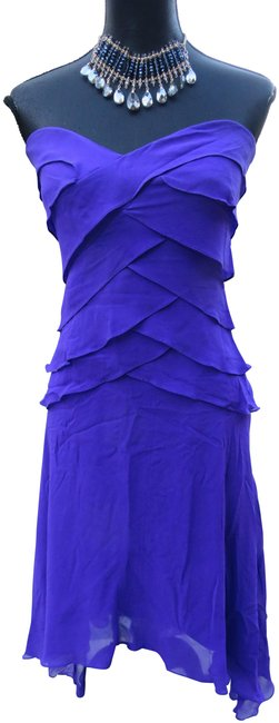 Item - Purple For Neiman Marcus Mid-length Night Out Dress Size 6 (S)