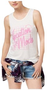 Junk Food Vacation Casual Festival Top White, Pink