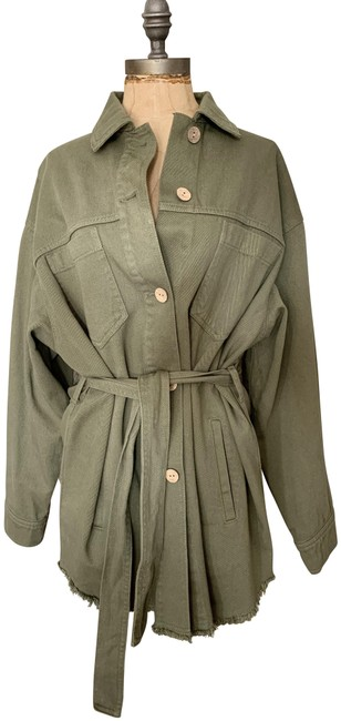 Item - Army Green Pre-owned Khaki Belted - Small Jacket Size 6 (S)