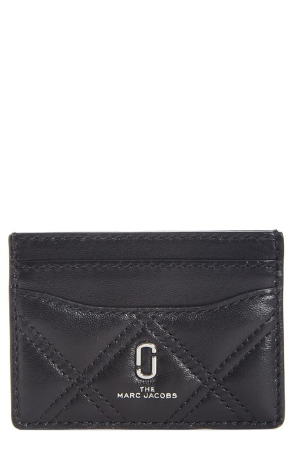 Marc by Marc Jacobs Black The Quilted Leather Card Case Wallet Marc by Marc Jacobs Black The Quilted Leather Card Case Wallet Image 1
