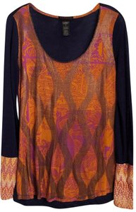 Custo Barcelona New Knit Long Mixed Oversized Top Multicolor