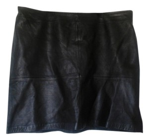 Jaqueline Smith Leather Skirt Black