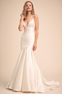 Wtoo Ivory Mikado Avery Luminosity Bhldn Gown Feminine Wedding Dress Size 2 (XS)