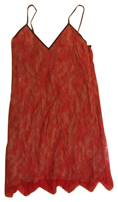 Item - Red Lace Slip Mid-length Short Casual Dress Size 8 (M)