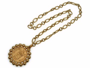 Chanel Chanel Coco Mark Belt Necklace Vintage Gold Chain 0070 CHANEL