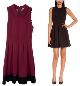 Manoush short dress Maroon Black #dkny #prada #salvatoreferragamo #stellamccartney #fendi on Tradesy