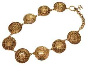 Chanel Chanel Coco Mark Vintage Necklace Gold Chain Women's Accessories 0060 CHANEL