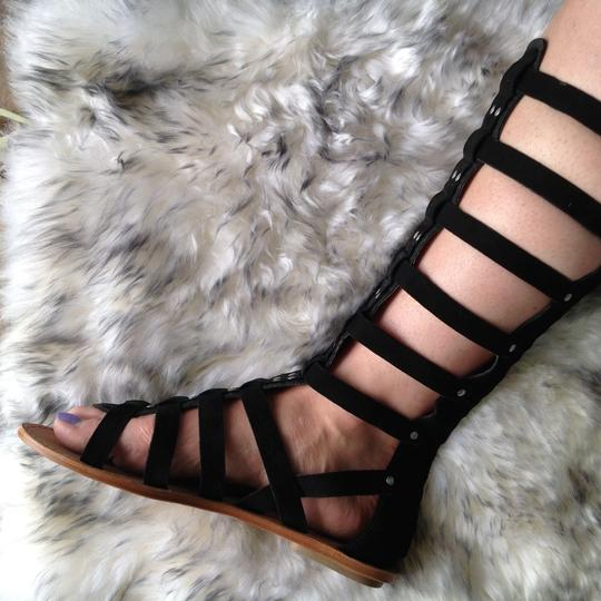 Ash Gladiator Booties Leather NEW black Sandals