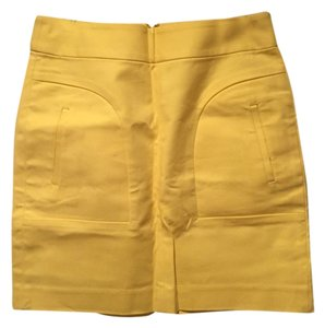 Banana Republic Cotton Fun Mini Skirt Yellow