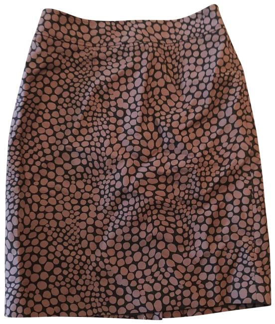 Item - Tan and Black Polka Dot Pencil Skirt Size 0 (XS, 25)