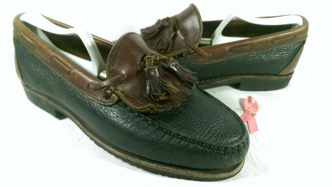 "Item - Black W/Brown Accents ""Nashua"" Men's Dress Casual Loafer 7.5m Shoes"