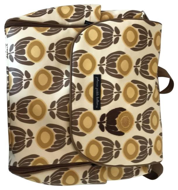Item - Backpack Like New Brown Multi Easy To Clean Glazed Coated Canvas Diaper Bag