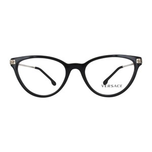 Versace New Authentic Versace 3261 GB1 Black & Gold Eyeglasses 52-17-140