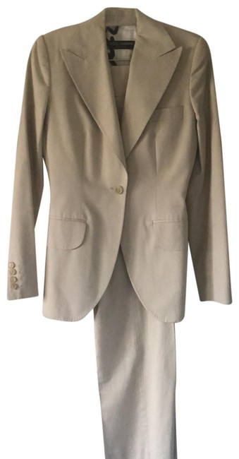Item - Tan Dolce and Gab Baba Chino Pant Suit Size 6 (S)