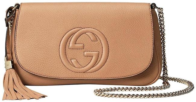 Item - Soho Crossbody Clutch New Gg Beige Tan Leather Messenger Bag