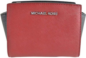 Michael Kors Selma Mini 888235398259 Womens Red Messenger Bag
