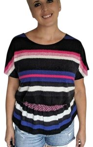 Angie Top Black Pink Blue