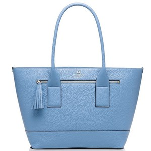 Kate Spade Pebbled Leather Classic Staple Investment Piece Tote in Blue