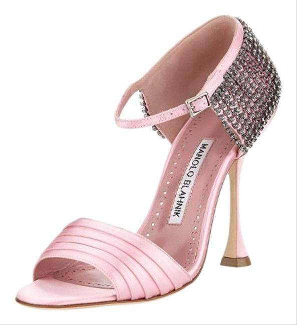 Item - Pink Sidina 105 313 Satin Heel Sandals Size US 7.5 Narrow (Aa, N)