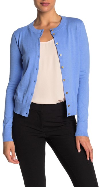 J.Crew Front Button Knit Cardigan Blue Sweater J.Crew Front Button Knit Cardigan Blue Sweater Image 1