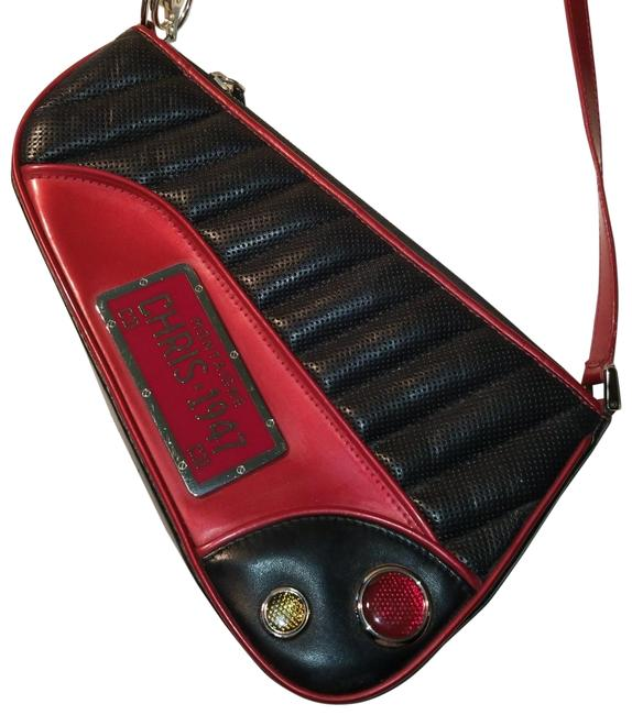 Item - Montaigne 2001 Trailer Trash Cadillac Motorcycle Saddle 1947 Galliano Red Lambskin Leather Baguette