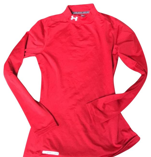 Under Armour Red Activewear Top Size 8 (M) Under Armour Red Activewear Top Size 8 (M) Image 1