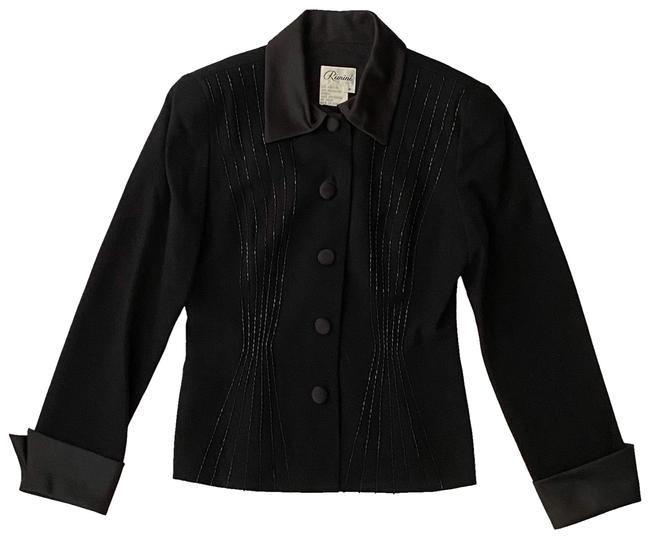 Item - Black with Beading Vintage Evening Jacket Blazer Size 8 (M)