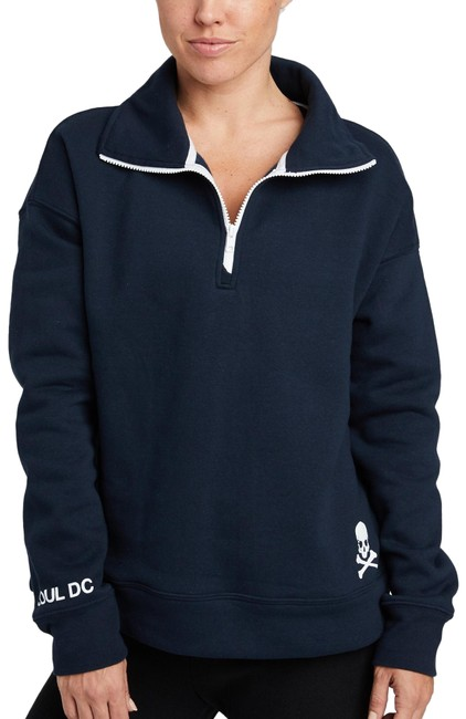 Item - Navy Funnel Neck Sweatshirt Dc Activewear Top Size 2 (XS)