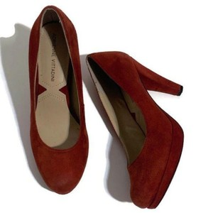 Adrienne Vittadini Classic Leather Heels Red Pumps