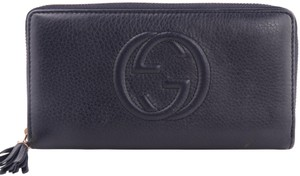 Gucci Gucci Soho Leather Zip Around Wallet