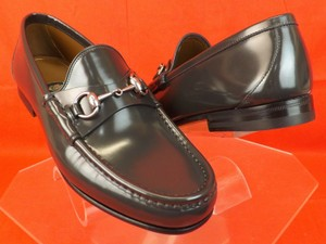 Gucci Gray Horsebit Piombo Shade Lux Leather Silver Loafers 7.5 8.5 #386598 Shoes