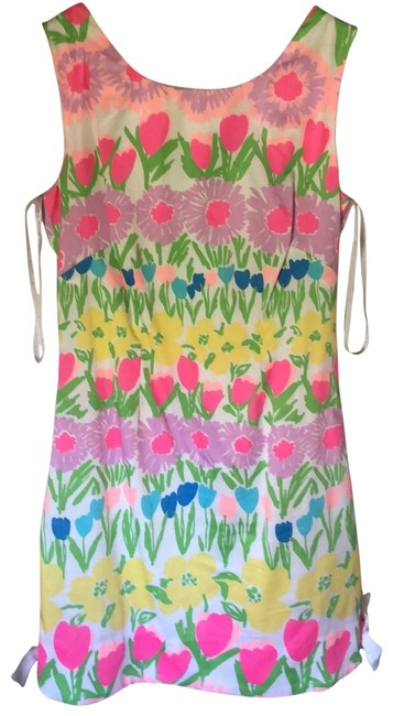 Item - Pink Green Purple Yellow Blue Style #52299 Short Casual Dress Size 00 (XXS)