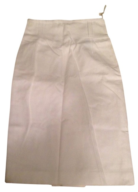 Burberry Pencil Skirt White