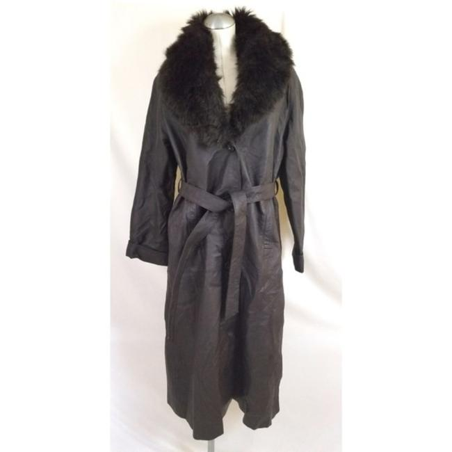 Item - Brown Removable Faux Collar Coat Size 8 (M)