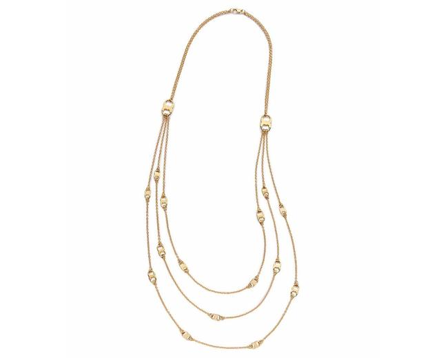 Item - Gold New Gemini Multi Strand 16k Necklace