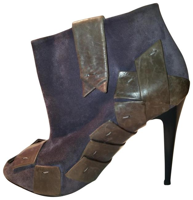 Item - Purple With Piecing Mad Max Steam Punk Straps Boots/Booties Size EU 38.5 (Approx. US 8.5) Regular (M, B)