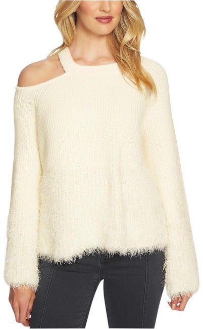 Item - Cold-shoulder Cream Sweater