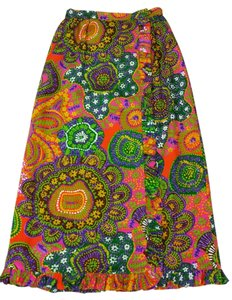 Alice of California Maxi Skirt Multi Neon