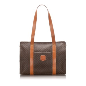 Celine 0dceto001 Vintage Leather Tote in Brown