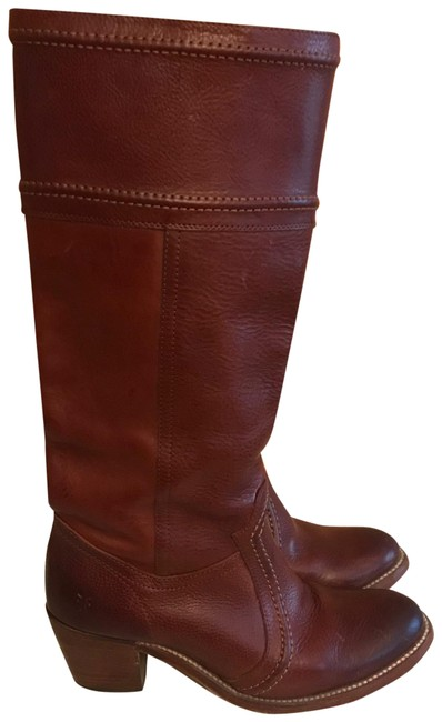 Item - Cognac Tall Leather Riding Boots/Booties Size US 8.5 Regular (M, B)