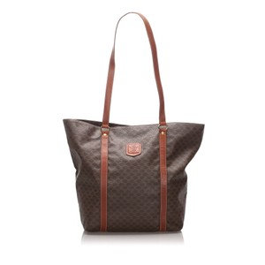 Celine 0bceto006 Vintage Leather Tote in Brown