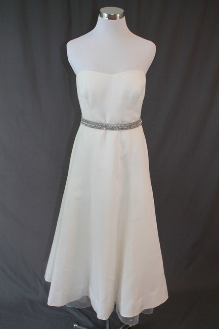 Item - Ivory Cotton Silk Maddalena Vintage Wedding Dress Size 8 (M)