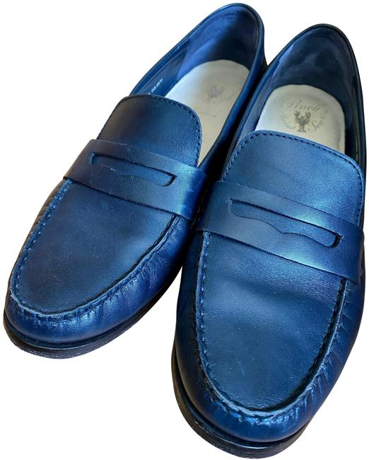 Cole Haan Navy Leather Pinch Grand Penny Loafer Flats Size US 9 Regular (M, B) Cole Haan Navy Leather Pinch Grand Penny Loafer Flats Size US 9 Regular (M, B) Image 1