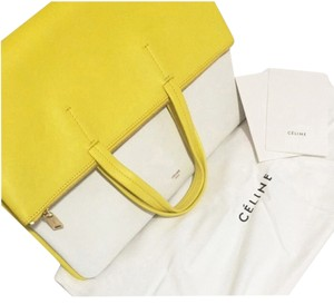 Céline Satchel in Yellow/white
